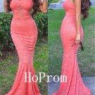 Spaghetti Straps Prom Dress,Lace Prom Dresses,Evening Dress