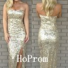 Strapless Sequins Prom Dress,Sparkly Prom Dresses,Evening Dress