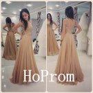 A-Line Prom Dress,Applique Chiffon Prom Dresses,Evening Dress