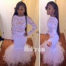 Lace Satin Prom Dress,Long Sleeve Prom Dresses 2017