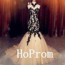 Floor Length Prom Dress,Elegant Applique Prom Dresses 2017