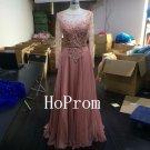 Lace Beading Prom Dress,Long Sleeve Prom Dresses 2017