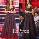 Short Sleeve Prom Dress,A-Line Prom Dresses 2017