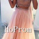 High Neck Prom Dress,Beading Prom Dresses 2017