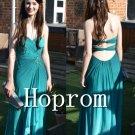 Green Chiffon Prom Dress,Simple Prom Dresses 2017