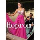 One Shoulder Prom Dress,Hot Pink Prom Dresses  2017