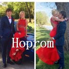 Red Beaded Prom Dress,Mermaid Prom Dresses  2017