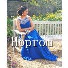A-Line Prom Dress,Royal Blue Prom Dresses 2017
