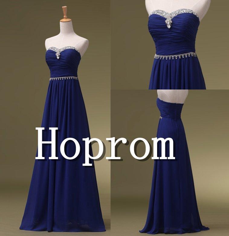 Sweetheart Prom Dress,Royal Blue Prom Dresses 2017