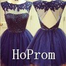 A-Line Short Prom Dress,Backless Prom Dresses  2017