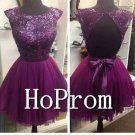 Cap Sleeve Prom Dress,Backless Prom Dresses  2017