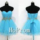 Sweetheart Blue Homecoming Dresses,Bandage Prom Dresses