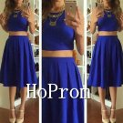 Two Piece Homecoming Dresses,Knee Length Prom Dresses