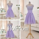 Light Purple Homecoming Dresses,Beading Prom Dresses