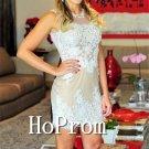 Sleeveless Lace Homecoming Dresses,Short Prom Dresses