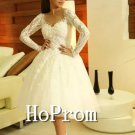 Knee Length Homecoming Dresses,White Lace Prom Dresses