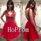 V-Neck Homecoming Dresses,Sleevless Prom Dresses