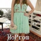 Short Mini Homecoming Dresses,Green Lace Prom Dresses