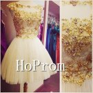 Sequin Beaded Homecoming Dresses,Short Tulle Prom Dresses