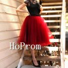 Knee Length Tulle Skirt,Short Skirt
