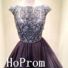 Cap Sleeve Homecoming Dresses,Elegant Prom Dresses