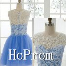 A-Line Homecoming Dresses,Lace Tulle Prom Dresses
