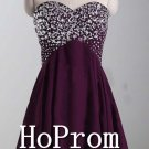Sweetheart Homecoming Dresses,Purple Chiffon Prom Dresses