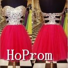 Sweetheart Red Homecoming Dresses,Short Prom Dresses