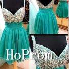 Spaghetti Straps Homecoming Dresses,Green Chiffon Prom Dresses