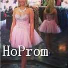 Sweetheart Pink Homecoming Dresses,Short Prom Dresses
