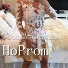 Long Sleeve Homecoming Dresses,Applique Short Prom Dresses