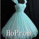 A-Line Chiffon Homecoming Dresses,Turquoise Short Prom Dresses
