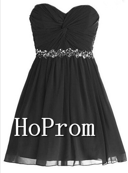 A-line Sweetheart Homecoming Dresses,Ruched Chiffon Prom Dresses