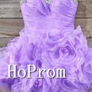 Purple Short Homecoming Dresses,Ruffles Prom Dresses