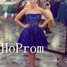 Royal Blue Homecoming Dresses,Sequin Sparkly Prom Dresses