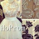 Sleeveless A-Line Homecoming Dresses,Short Prom Dresses