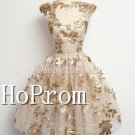 High Neck Homecoming Dresses,Capped Sleeves Prom Dresses