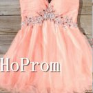 Sweetheart Short Homecoming Dresses,Coral Prom Dresses