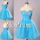 Light Blue Homecoming Dresses,Sweetheart Prom Dresses