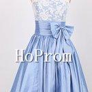 White Lace Homecoming Dresses,Ribbon Taffeta Prom Dresses