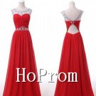 Sleeveless A-Line Homecoming Dresses,Beaded Prom Dresses