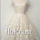 Cap Sleeve Homecoming Dresses,Knee Length Prom Dresses
