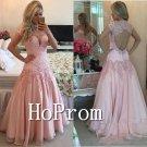 High Neck Prom Dress,Cap Sleeve Prom Dresses