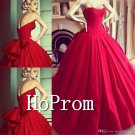 Sweetheart Red Prom Dress,A-Line Prom Dresses