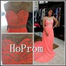 Crystal Beading Prom Dress,Floor Length Prom Dresses