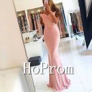 Off Shoulder Prom Dress,Mermaid Pink Prom Dresses