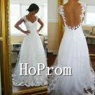 Sleeveless A-Line Prom Dress,White Lace Prom Dresses