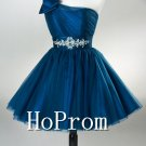 One Shoulder Prom Dress,Short Mini Prom Dresses