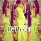 Mermaid Yellow Prom Dress,Floor Length Prom Dresses