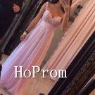 Spaghetti Straps Prom Dress,Pink Chiffon Prom Dresses